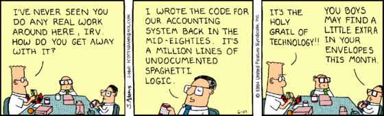 Dilbert on Spaghetti Code